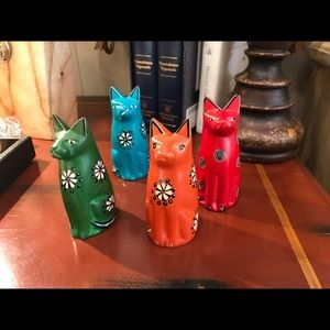 Hand carved cats